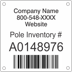 Pole Inventory Tag
