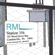911-substation-address-sign