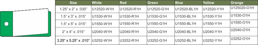 U12520-1H GREEN CHART