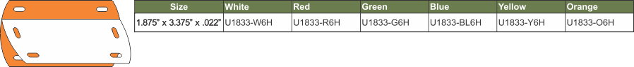 U1833-6H GREEN CHART