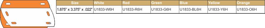 U1833-6H ORANGE CHART