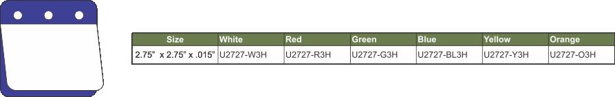U2727-3H GREEN CHART