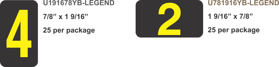 Yellow on black - transmission